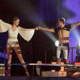Andrea Huisgen y Javier Castillejo en 'Mira quién salta'