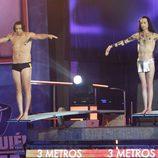 Benjamín Zarandona y Sandro Rey en 'Mira quién salta'