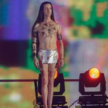 Sandro Rey preparándose para saltar en 'Mira quién salta'