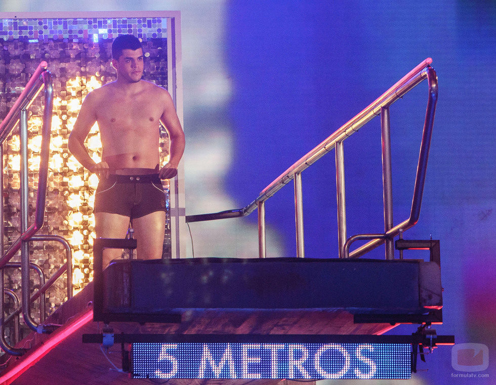 Sergi Capdevilla preparándose para saltar en 'Mira quién salta'