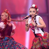 """""""Las Polacas"""" durante la Final de Eurovisión 2014"""