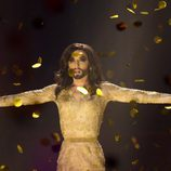 Conchita Wurst, sorprendida tras ganar Eurovisión 2014