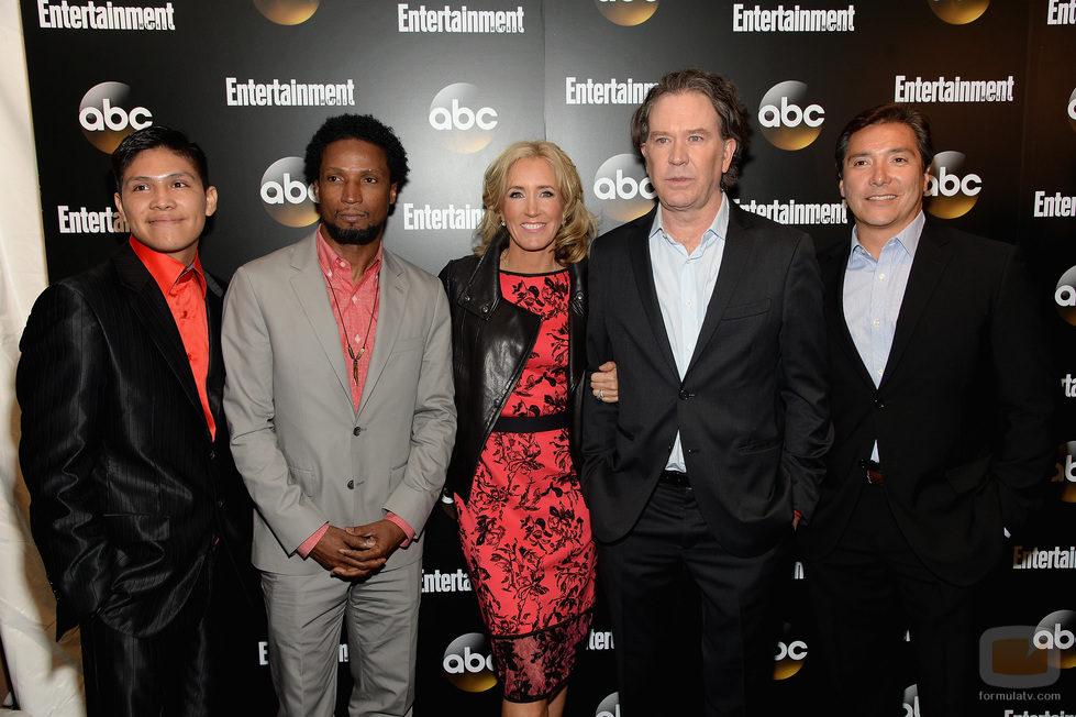 Timothy Hutton, Felicity Huffman y el resto del reparto de 'American Crime' en los Upfronts 2014 de ABC