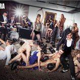 Tamara, rodeada de cuerpos desnudos en Primera Línea
