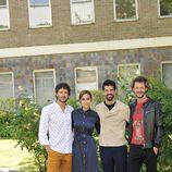Daniel Grao, Megan Montaner, Miguel Ángel Muñoz y Eloy Azorín en la rueda de prensa de 'Sin identidad'