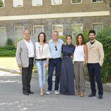 Tito Valverde, Cristina de Inza, Jordi Rebellón, Megan Montaner, Lydia Bosch y Miguel Ángel Muñoz en la rueda de prensa de 'Sin identidad'