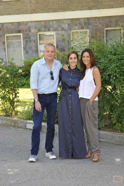 Jordi Rebellón, Megan Montaner y Lydia Bosch en la rueda de prensa de 'Sin identidad'
