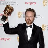 Aaron Paul recoge el BAFTA 2014 de 'Breaking Bad'