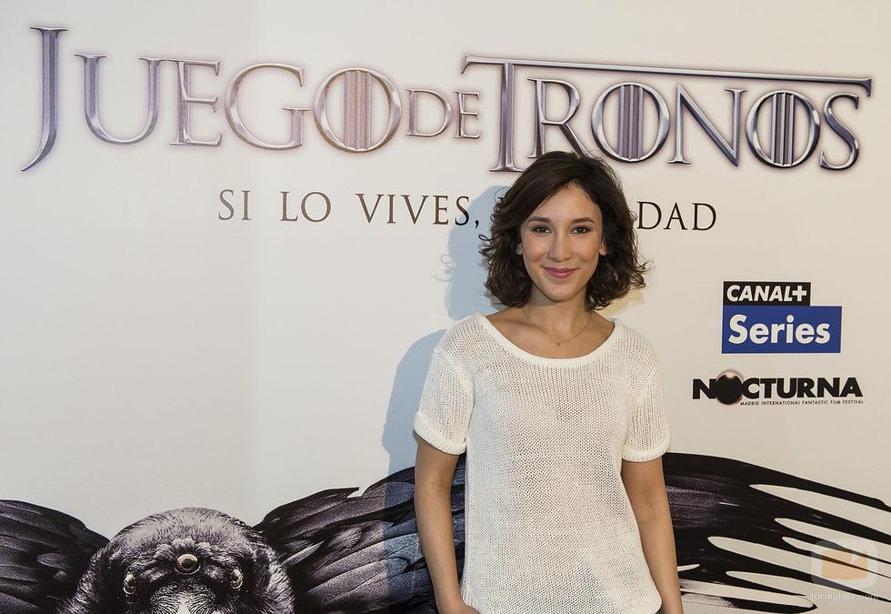 Sibel Kekilli, Shae en 'Juego de Tronos', ante el photocall del Nocturna Festival