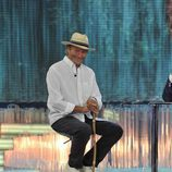 Amador Mohedano a su llegada al plató de 'Supervivientes 2014'
