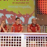 """Jugadores de """"La Roja"""" durante la presentación del Mundial de Brasil por Mediaset España"""