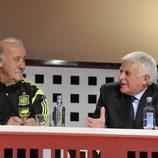 Paolo Vasile charla junto a Vicente del Bosque