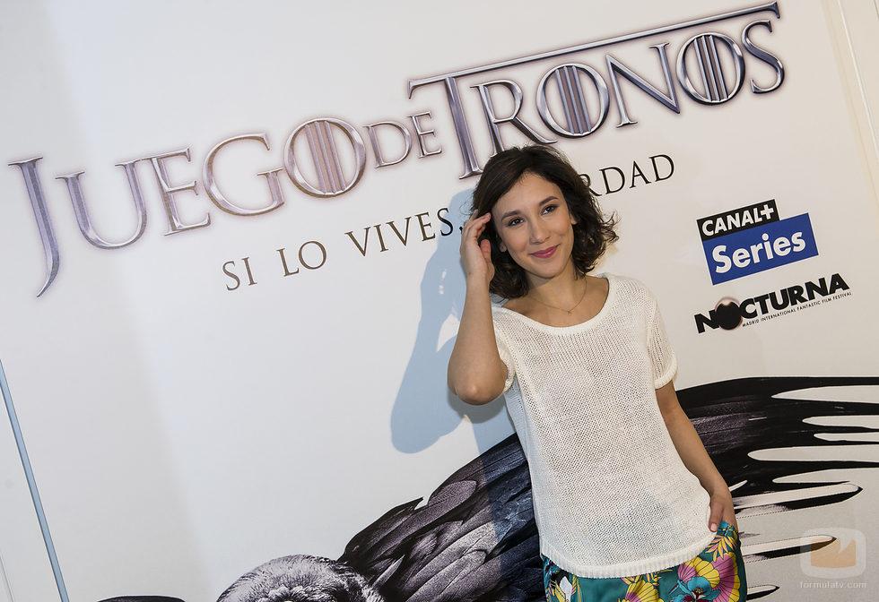 Sibel Kekilli ante el photocall del evento de 'Juego de Tronos' del Nocturna Festival