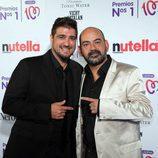 Antonio Orozco y José Corbacho en los Premios Números 1 de Cadena 100