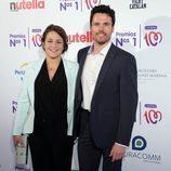Teresa Hurtado de Ory y Octavi Pujades, de 'Ciega a citas', en los Premios Números 1 de Cadena 100