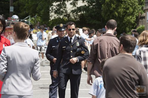 Justin Theroux interpreta al jefe de policía Kevin Garvey en 'The Leftovers'