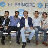 Los progatonistas de 'El príncipe' durante la presentación de la nueva temporada