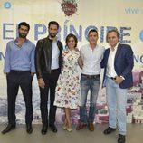 Rubén Cortada, Stany Coppet, Hiba Abouk, Aléx González y José Coronado en la presentación de la nueva temporada de 'El príncipe'