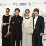 Eva González, Pepe Rodríguez, Samantha Vallejo-Nágera y Jordi Cruz en los Premios Iris 2014