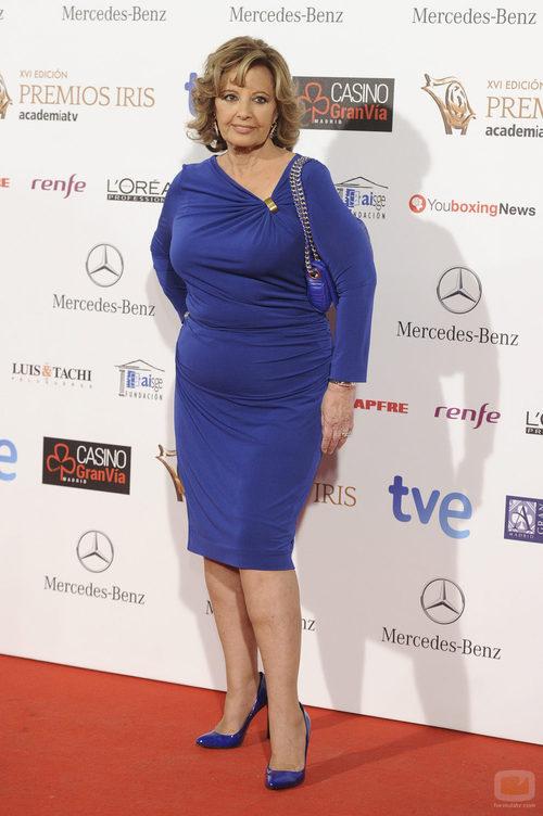 María Teresa Campos en los Premios Iris 2014