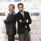 Albert Castillón y Roberto Leal en los Premios Iris 2014
