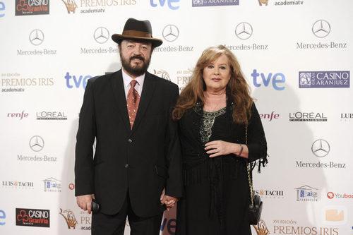 Miguel Morales y Fedra Lorente en los Premios Iris 2014