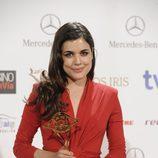 Adriana Ugarte, mejor actriz por 'El tiempo entre costuras' Premios Iris 2014