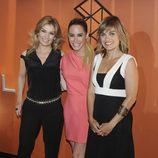 Sandra  Golpe, Ainhoa Arbizu y Lourdes Maldonado en la inauguración de Atresmedia Café