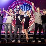 Gonzo, Dani Rovira, Berto Romero, Eva Hache, Santi Rodríguez e Isabel Ordaz en 'El Club de la Comedia'