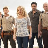 Sam Trammell, Ryan Kwanten, Anna Paquin, Joe Manganiello y Chris Bauer en 'True Blood'