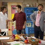 Rubén con Ángel y Jorge en 'Con el culo al aire'