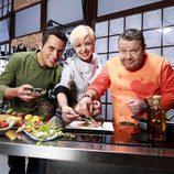 Yayo Daporta, Alberto Chicote y Susi Díaz encabezan el equipo de 'Top Chef 2'