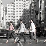 'El intermedio' emula a los Beatles en Abbey Road cruzando por Gran Vía