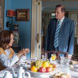 Lydia Bosch y Jordi Rebellón desayunando en 'Sin identidad'