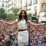Conchita Wurst agradeció su acogida en el Orgullo Gay 2014 de Madrid