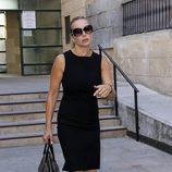 Mar Regueras en el funeral de Carmen Hornillos