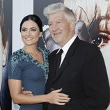 "Madchen Amick y David Lynch celebrando la presentación de ""Twin peaks: The Entire Mystery"""