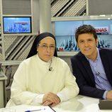 Jesús Cintora y Sor Lucía en 'Las mañanas de Cuatro'