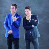 Arturo Valls y Manel Fuentes posan para la promo de su nuevo programa