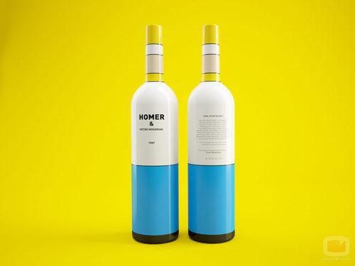 Diseño de botella de Homer no autorizada
