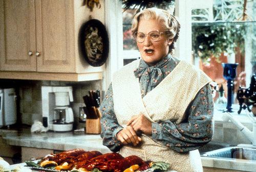 Robin Williams como la Señora Doubtfire