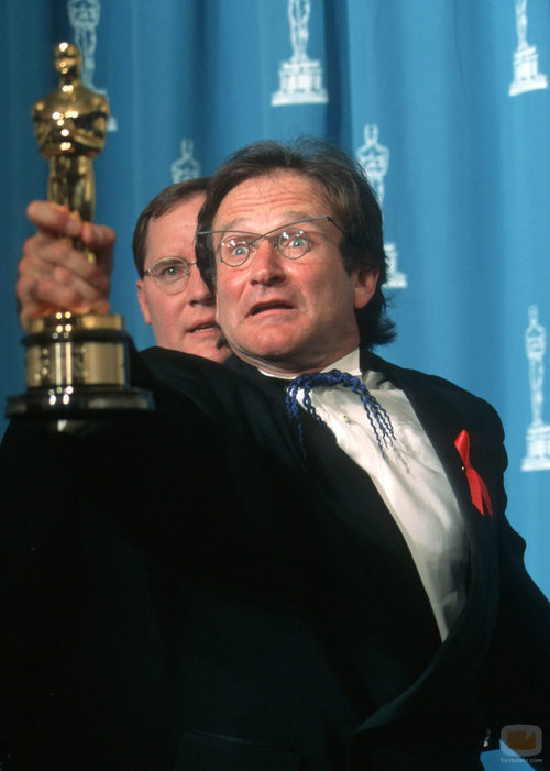 Robin Williams con un Premio Oscar