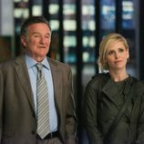 Robin Williams con Sarah Michelle Gellar en 'The Crazy Ones'