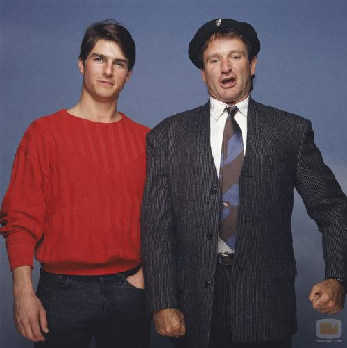 Tom Cruise y Robin Williams en 1987