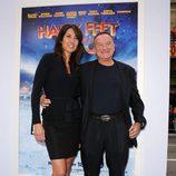 Robin Williams junto a Susan Schnider