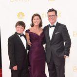 Stephen Colbert y familia en los Emmys 2014