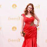 Christina Hendricks en la alfombra roja de los Emmy 2014