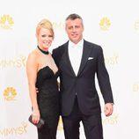 Matt LeBlanc y Andrea Anders en los Emmys 2014