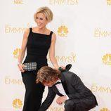 William H. Macy, asistente de Felicity Huffman en la alfombra roja de los Emmy 2014