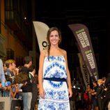Sandra Blázquez en la alfombra naranja del FesTVal 2014